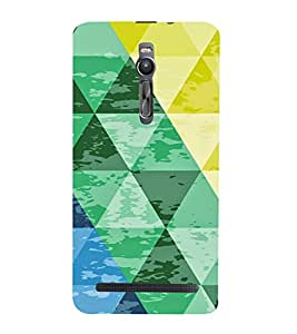 PrintVisa Triangles Pattern 3D Hard Polycarbonate Designer Back Case Cover for Asus Zenfone 2