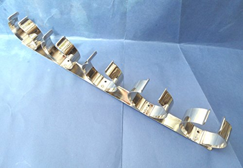 Preisvergleich Produktbild 1–2 X,  für 5 Weinflaschen Halter. Metall. Chrom Nickel vergoldet. Wohnmobil / Wohnwagen / Caravan / Wohnmobil / statisch. 425 mm lang.