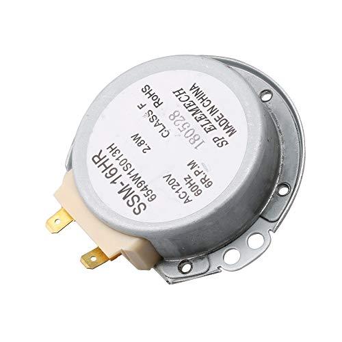 RDEXP 6549W1S1013K Wechselstrommotor für Mikrowelle, 120 V, 6 U/min, 4,86 mm Schaft, Ersatz für 6549WLS018A 6549W1S1013K -