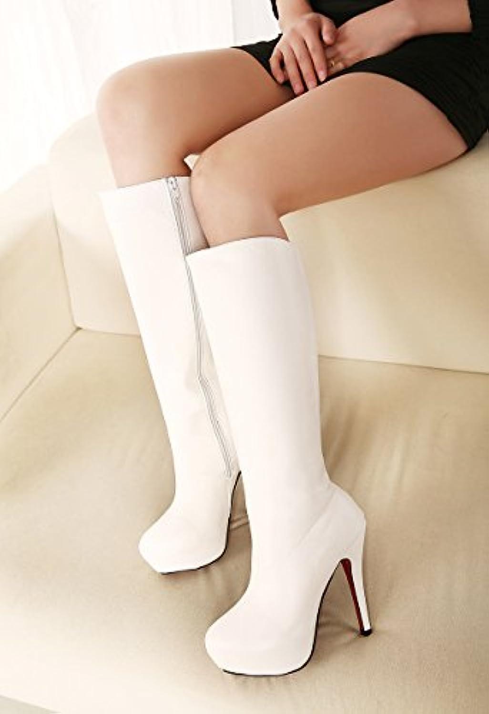 RUGAI-UE Las damas botas de tacón alto,europea y americana impermeable impermeable zapatos,botas de tacón alto...