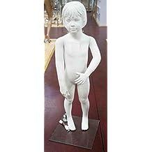 Maniqui de niña de 4 a 6 años. Color blanco mate