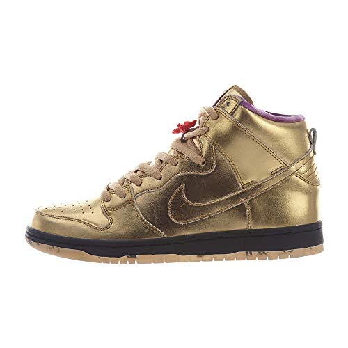 low priced b0b1e 30374 Nike SB Dunk High QS, Scarpe da Fitness Uomo, Multicolore Metallic Gold Black