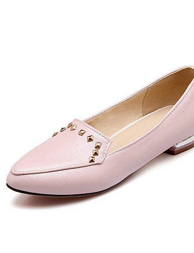 ZQ Scarpe Donna Finta pelle Basso A punta Ballerine Casual Nero/Blu/Rosa/Bianco , pink-us11.5 / eu43 / uk9.5 / cn45 , pink-us11.5 / eu43 / uk9.5 / cn45 blue-us6.5-7 / eu37 / uk4.5-5 / cn37