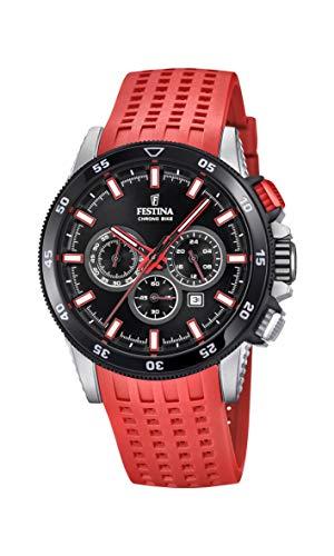 Festina Herren Chronograph Quarz Smart Watch Armbanduhr mit Silikon Armband F20353/8