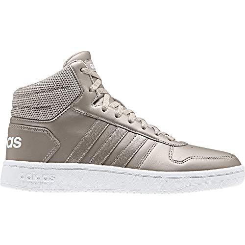 adidas Damen Hoops 2.0 Mid Basketballschuhe, Mehrfarbig Metpla/Ftwbla 000, 39 1/3 EU
