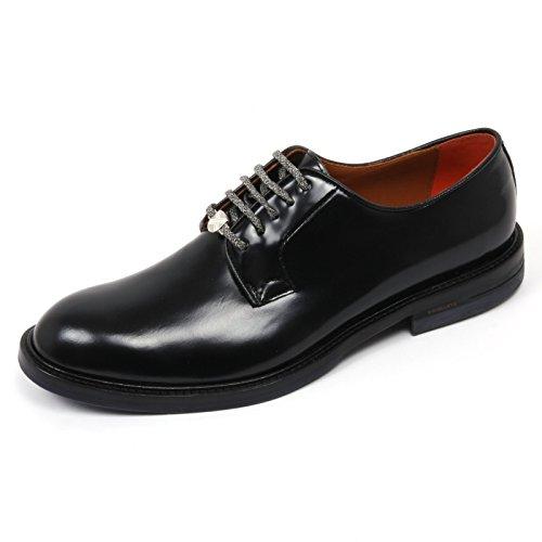 C2506 scarpa inglese uomo BRIMARTS scarpe nero fondo cuoio shoe man Nero