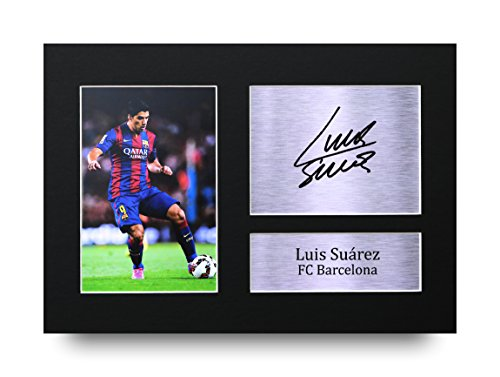70fc3c8fa HWC Trading Luis Suarez Gift Signed A4 Printed Autograph Barcelona Gifts  Print Photo Picture Display