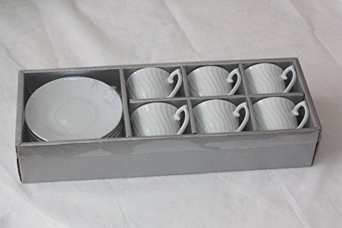 Set 12 pièces. Tasses à expresso avec soucoupe Moka Tasse