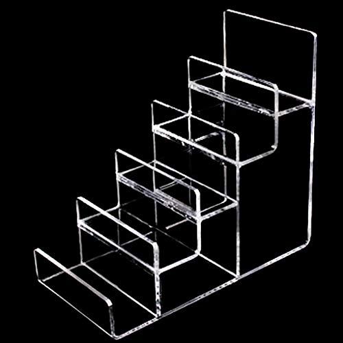 JeweR Brieftasche Display-Ständer Multi-Funktions-5-Schicht-Transparent Acryl (Farbe : SCHWARZ)