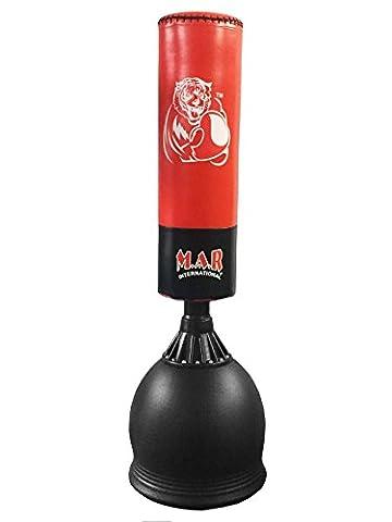 Sac de frappe couleur rouge/noir pour Arts martiaux, MMA,