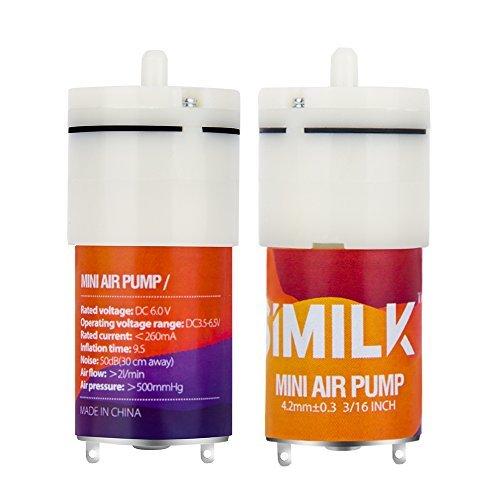 similk DC 6V Mini Air Pumpe Motor, DIY und Ersatz Zubehör, Aquarium Tank Sauerstoff circlutate