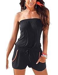 suchergebnis auf f r edel schwarz jumpsuits damen bekleidung. Black Bedroom Furniture Sets. Home Design Ideas