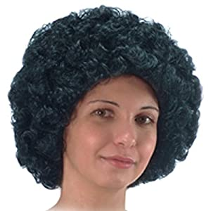 Carnival 02120 - Peluca de pelo rizado (90 g), color negro