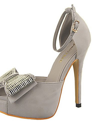 WSS 2016 Chaussures Femme-Décontracté-Noir / Jaune / Rose / Rouge / Gris-Talon Aiguille-Talons-Talons-Laine synthétique gray-us6.5-7 / eu37 / uk4.5-5 / cn37