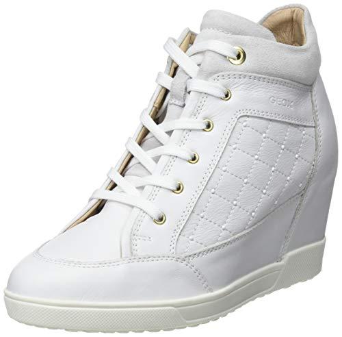 Geox Damen D CARUM C Hohe Sneaker, Weiß (White C1000), 40 EU