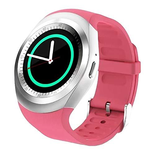 P12cheng Fitness-Smartwatch, Fitness-Aktivitätstracker,Schlafmonitor Bluetooth Call Fitness Track Schrittzähler Smart Watch für Android Pink -