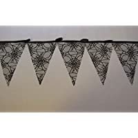 Gothic bunting, black spiders web garland, gothic banner, ideal for halloween party