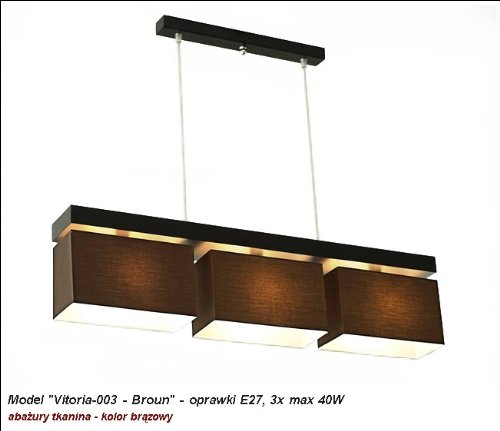 wero Design Lustre Suspension Lampe suspension-Vitoria 003, Broun, E27 120.0 wattsW