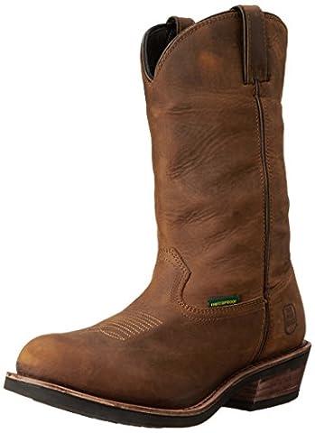 Dan Post Men's Albuquerque Tan Distressed Waterproof Leather Work Western Boots DP69681 (DP69681EW8.5) / UK 7.5
