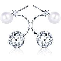 Yumi Lok in argento Sterling 925perline cuori fiori sfere orecchini pendenti orecchini orecchino jackets ipoallergenico orecchini gioielli per donna donne ragazza