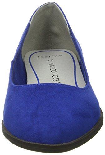 Marco Tozzi Damen 22128 Geschlossene Ballerinas Blau (Royal 838)