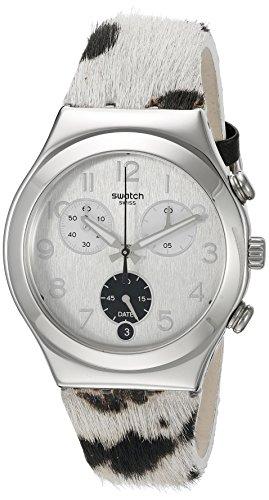 Swatch Montre bracelet Mixte Chronographe Quartz Cuir ycs585