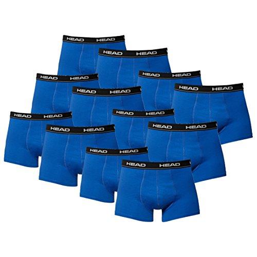 HEAD Herren Boxer Boxershort Unterhose 12er Pack in vielen Farben (blue / black, L)