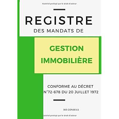 Registre des Mandats de Gestion Immobilière
