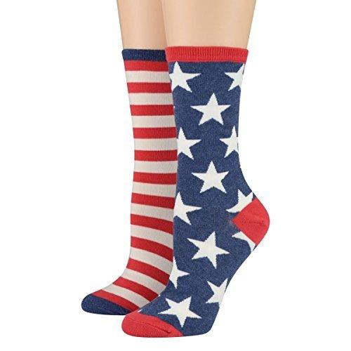 Socksmith Women's Socks Flag Crew
