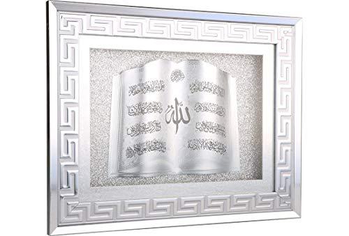 Wanddeko Quran | Islam | Weiß | Konterplattenverstärkt | 39 cm x 31 cm