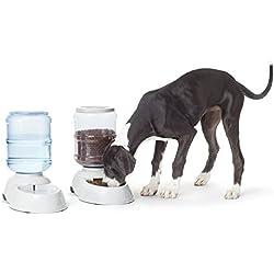 AmazonBasics - Distributeur de nourriture et d'eau, Grand modèle