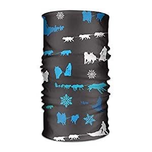 guanggs Beanie Sled Dog Siberian Husky Alaskan Malamute Multifunctional Bandanas for Men Women Sweatband Elastic Turban Headwear Headscarf