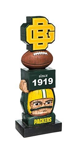 Team Sports America Green Bay Packers Vintage NFL Tiki Totem Statue