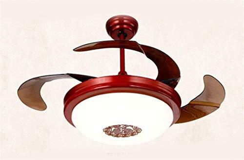 lampenschirm-Ringlicht Personality Fenster und Türen Fans mit Led mit Ventilator 42inch Fernbedienung Vierfarben Dimmer Diameter106Cm Kronleuchter ()