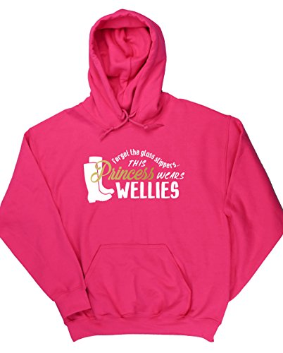 hippowarehouse-forget-the-glass-slippers-this-princess-wears-wellies-unisex-hoodie-hooded-top