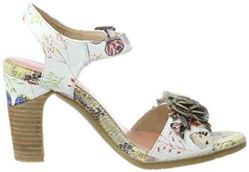 Laura Vita Dali 03, Sandali con Cinturino alla Caviglia Donna Bianco (Blanc)