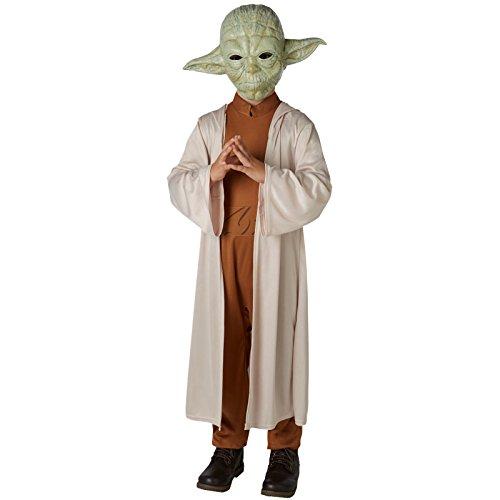 a Star Wars Kostüm für Kinder mit Maske 140 (9-10 Jahre) (Deluxe Yoda Kinder Kostüme)