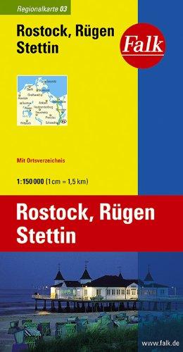 Falk Regionalkarte Rostock - Rügen - Stettin 1:150 000