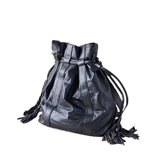 Donna PU confezioni Da Buca Nuove Mode Nappe Corde Borsa A Tracolla Borsa Borsa A Tracolla Inclinata Blue