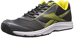 Reebok Mens Ultimate Speed III Lp Grey, Yellow, White and Black Mesh Running Shoes - 10 UK