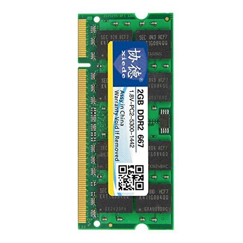 5300 Ddr2-667mhz Notebook Speicher (Rvest Laptop-Speicher Ram-Modul DDR2 667 Pc2-5300 240Pin Dimm 667 MHz für Notebook voll kompatibel 1G / 2G)
