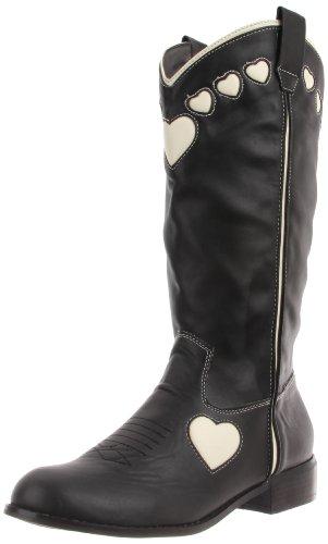 TUK Queen Of Hearts, Boots femme Noir (Black Cream Hearts)