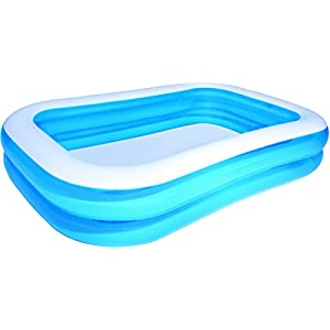 Bestway Family Pool Blue Rectangular, 262x175x51 cm