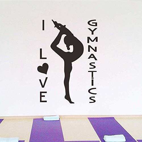 Olivialulu Wandaufkleber Yoga Zentrum Meditation Pose Girl Fitness Aufkleber Wand Fenster Aufkleber Diy Abnehmbare Vinyl Dekor Wandbild 17.März.9 Anpassbar 5816 Fenster