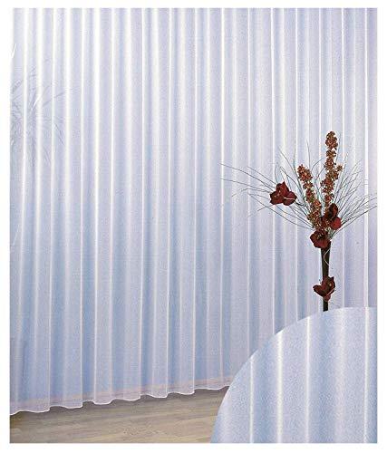 Gardinen Vorhang Store Webstore halbtransparent mit Kräuselband und Bleibandabschluss HxB 150x300 cm Typ96