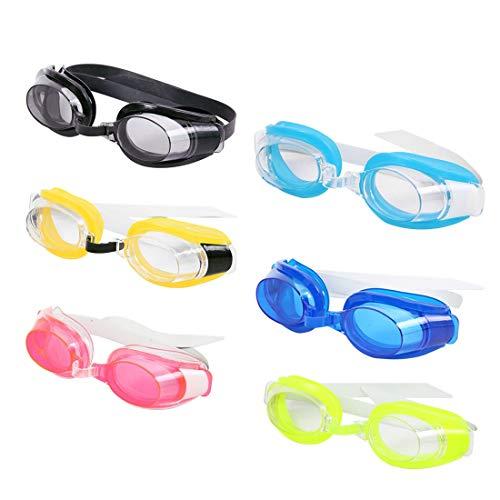 YOGINGO Kinder Wasserdichte Anti Fog Schwimmbrille Outdoor Sports Swimming Pool Brillen & Ohrstöpsel Nase Clip
