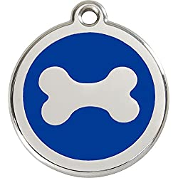 Red Dingo Médaille pour Chien Bleu Os 38 mm
