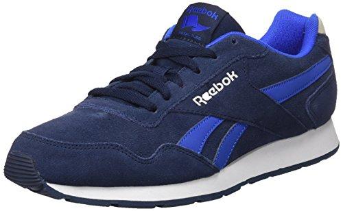 Reebok Royal Glide, Sneakers Basses Homme, CC-Drak Root/Stone Grey/Stucco/White/Sil Bleu (Navy/vital Blue/stucco/white/silver)