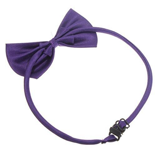 SODIAL (R) Hunde Katzen Haustier Fliege krawatte Halsschmuck Halsband Hundefliege Hundekrawatte dog Pet tie Necktie Dunkellila