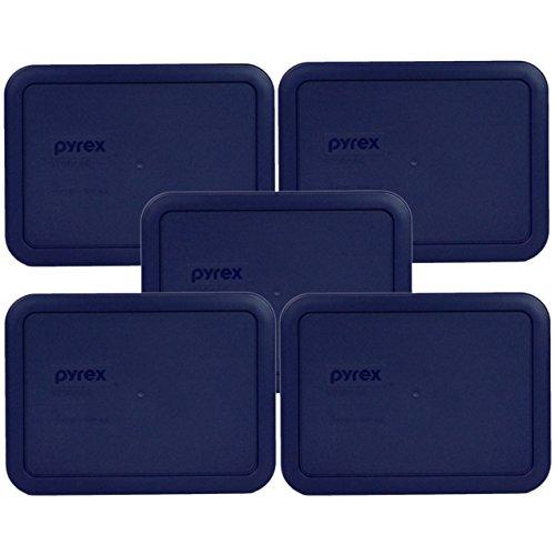 3 Cup Container (Pyrex 7210-pc Rechteck blau 3Cup Aufbewahrung Deckel für Glas Auflaufform Dark Blue, Navy)